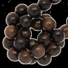 round  beads shape ebony color