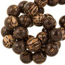 brown beads natural wood 18 mm
