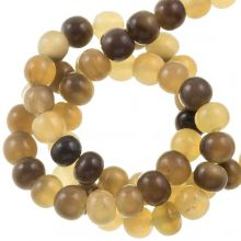 Bone Beads (6 mm) Grey (75 pcs)