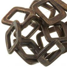 Bone Beads  (32 mm) Brown (13 pcs)