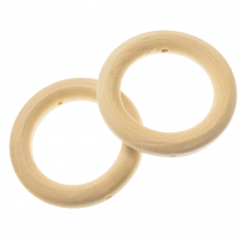 Natural Wood Ring (45 mm) 10 pcs