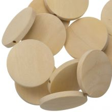 Natural Wood Beads (30 x 5 mm) 25 pcs