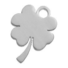 Stainless Steel Charm Clover (10 x 9 mm) Antique Silver (4 pcs)