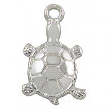 Charm Turtle (11 x 7 mm) Antique Silver (25 pcs)
