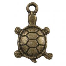 Charm Turtle (11 x 7 mm) Bronze (25 pcs)