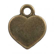 Charm Heart (12 x 10 mm) Bronze (25 pcs)
