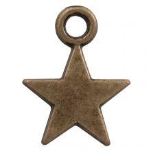 Charm Star (12 x 9 mm) Bronze (25 pcs)