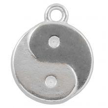 Charm Ying Yang (17 x 13 mm) Antique Silver (25 pcs)