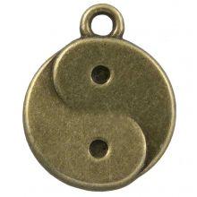 Charm Ying Yang (17 x 13 mm) Bronze (25 pcs)