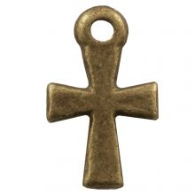Charm Cross (12 x 7 mm) Bronze (25 pcs)