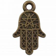 Charm Hamsa (14 x 12 mm) Bronze (25 pcs)