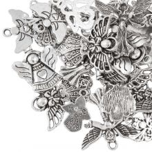 Charm Mix Angel (various sizes) Antique Silver (30 pcs)