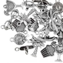 Charm Mix Holiday (various sizes) Antique Silver (24 pcs)