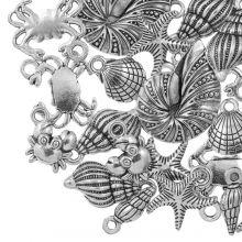 Charm Mix Beachlife (various sizes) Antique Silver (24 pcs)