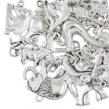 Charm Mix Animals (various sizes) Antique Silver (24 Pieces)