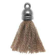 Tassels (20 mm) Cedar / Silver (5 pcs)