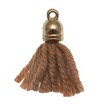 Tassels (20 mm) Tawny / Gold (5 pcs)