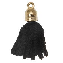 Tassels (20 mm) Black / Gold (5 pcs)
