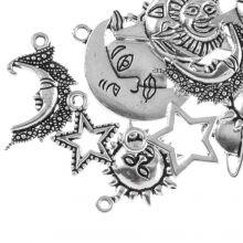 Charm Mix Universe (various sizes) Antique Silver (8 pcs)