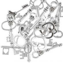 Pendant Mix Keys (various sizes) Antique Silver (30 pcs)