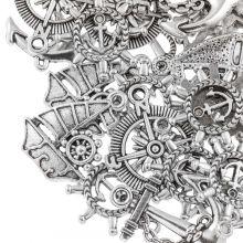 Charm Mix Sailor (various sizes) Antique Silver (40 pcs)