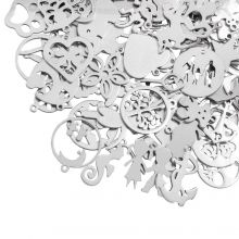 Charm Mix Popular Stainless Steel (various sizes) Antique Silver (90 pcs)