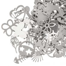 Charm Mix Stainless Steel (various sizes) Antique Silver (100 Pieces)