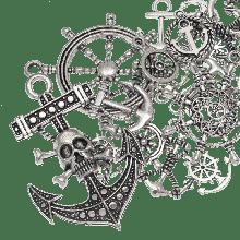 Charm Mix Anchor (various sizes) Antique Silver (60 pcs)