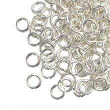 Jump Ring (6 mm) Silver (100 pcs) Thick 1.2 mm