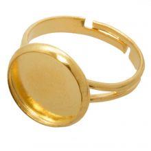 Adjustable Ring (fits 12 mm Cabochon) Gold (5 pcs)