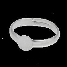 Adjustable Ring (Tray 6 mm) Silver (10 pcs)