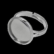 Adjustable Ring (fits 14 mm Cabochon) Antique Silver (5 pcs)