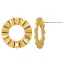 Stud Earrings (17 mm) Gold Plated Gold (4 pieces)