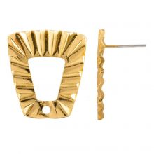 Stud Earrings (21 x 19 mm) Gold Plated (4 pieces)