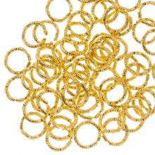 Jump Rings (6 mm) Gold (100 pcs) Thickness 1 mm