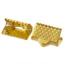 Ribbon End (10 mm) Gold (25 pcs)