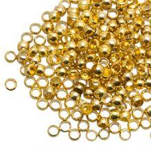 Crimp Beads Bulk Pack (hole size 1.5 mm) Gold (730 pcs)