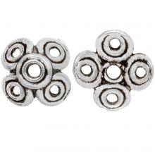 Beadcap (12 x 6 mm) Antique Silver (10 pcs)