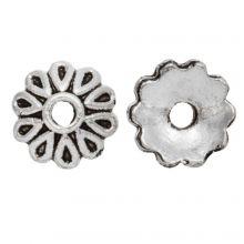 Beadcap (8 x 2.5 mm) Antique Silver (25 pcs)
