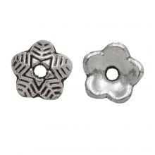 Beadcap (6 x 1.5 mm) Antique Silver (25 pcs)