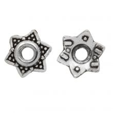 Beadcap (7 x 3 mm) Antique silver (25 pcs)