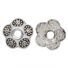 Beadcap (9 x 3 mm) Antique Silver (30 pcs)