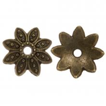 Beadcap (9 x 2 mm) Bronze (25 pcs)