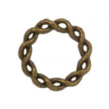 Closed Ring (outside size 15 mm inside size 10 mm) Bronze (10 pcs)