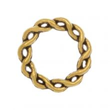 Closed Ring (outside size 15 mm inside size 10 mm) Gold (10 pcs)