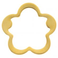 Stainless Steel Closed Rings (outside size 21.5 mm inside size 17 mm) Gold (5 pcs)