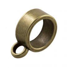 Connector 1 Eyelet (hole size 8 mm) Bronze (10 pcs)