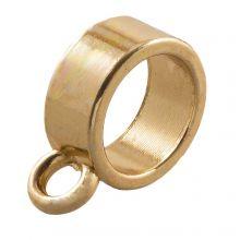 Connector 1 Eyelet (hole size 9 mm) Gold (10 pcs)