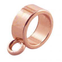 Connector 1 Eyelet (hole size 9 mm) Rose Gold (10 pcs)