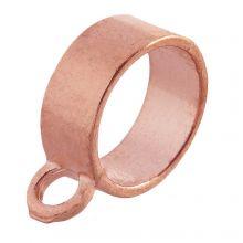 Connector 1 Eyelet (hole size 10 mm) Rose Gold (10 pcs)
